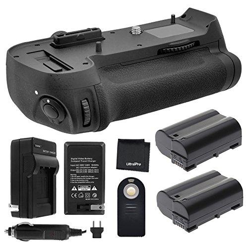 Battery Grip Bundle F/ Nikon D800, D810: Includes MB-D12 Replacement Grip, 2-Pk EN-EL15 Long-Life Batteries, Charger, UltraPro Accessory Bundle