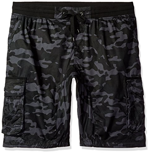 Southpole Big and Tall Men's Jogger Shorts with Cargo Pockets in Solid and Camo Colors, GreyBlack(New), 4X-Large