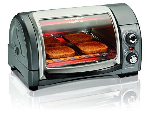 Hamilton Beach Easy Reach Toaster Oven, Metallic (31334)