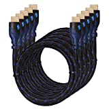 4K HDMI Cable 3ft[5 Pack]-KAYO High Speed HDMI 2.0 Cable 18Gbps[Supports 4K HDR,3D,2160P,1080P,Ethernet]-28AWG