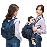 Baby Carrier with Diapers Bag 2 Function in 1 Mommy Bag Malanghoney, Navy