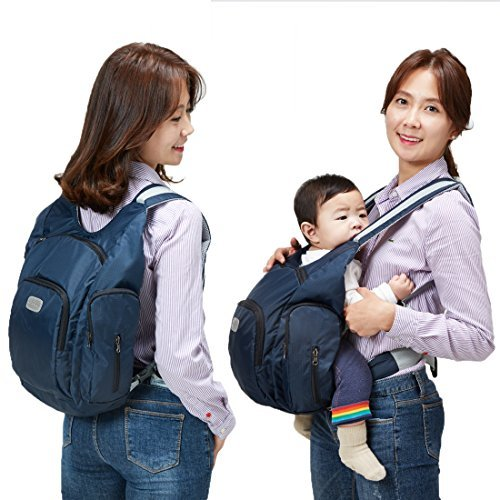 Baby Carrier with Diapers Bag 2 Function in 1 Mommy Bag Malanghoney, Navy by Malang Honey