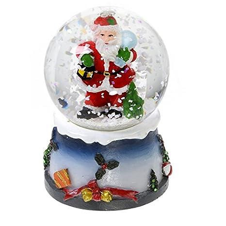 Boule A Neige Lumineuse Avec Paillettes Decoration De Noel Amazon