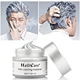 HailiCare Silver Grey Hair Wax 4.23 oz, Professional Hair Pomades, Natural Silver Ash Matte Hairstyle Wax for Men Women