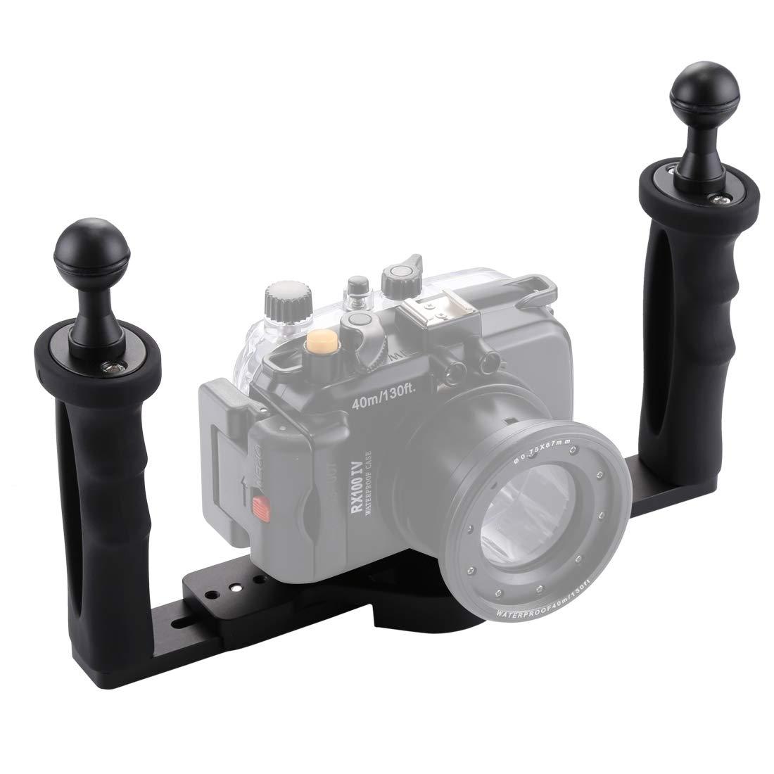 デュアルハンドルアルミトレイスタビライザー 水中カメラハウジング用   B07MTCNW8D