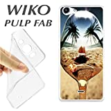 J289 Wiko Pulp Fab Case Beach Girl TPU Spoon Reflection Case