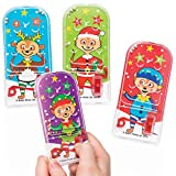 Baker Ross Festive Meerkats Pinball Games (Pack Of 8) For Kids Christmas Party Bag And Stocking Fillers