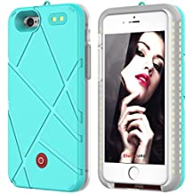 Briday 2 in 1 iPhone Selfie light case LED Light Up & Portable Rechargeable Battery (for iPhone5/5S/SE, Green)