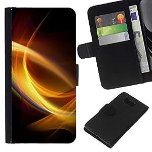 NEECELL GIFT forCITY // Billetera de cuero Caso Cubierta de protección Carcasa / Leather Wallet Case for Samsung ALPHA G850 // Remolinos de luz