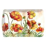 "Merritt Poppy Garden Melamine Dishware, Dish Type: 17 x 13"" Tray"