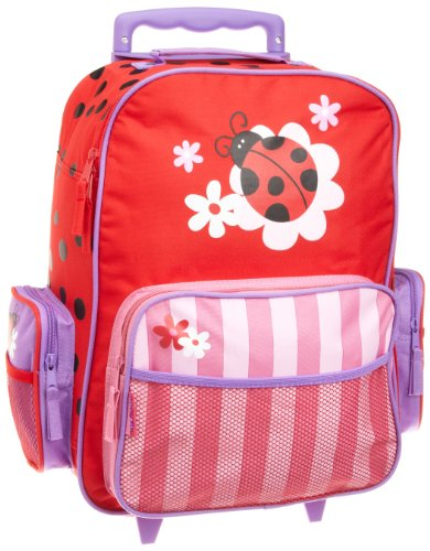 Stephen Joseph Girls Classic Rolling Luggage, Ladybug, One Size (Best 4 Wheel Suitcase Review)