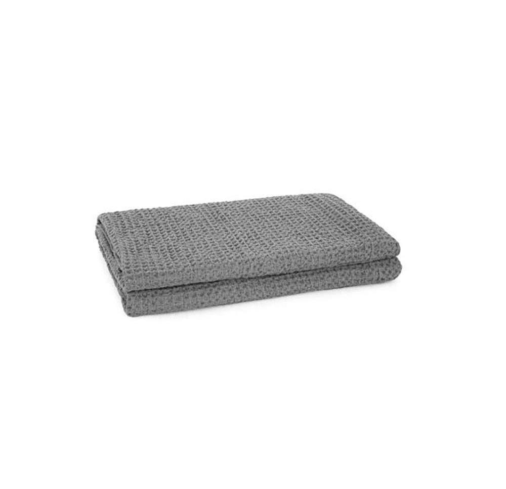 フェイクファー毛布フェイクファー、綿毛布ハニカム構造エアコンソファ毛布ふわふわタオル毛布グレー毛布(サイズ:2枚) B07QLKG2V4