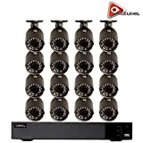 Q-See 16-Channel HD Analog DVR with 2TB HDD, 16 x 4MP Cameras with 100′ Night Vision