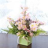 山久 桜 と グリーン の アレンジ 1301-4893 T触 シルクフラワー 造花