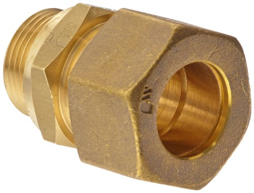 - Legris 0101 18 82 Brass Compression Tube Fitting, Adaptor, 18 mm Tube OD x M22 Male Metric Thread