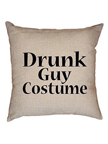 Hollywood Thread Funny Drunk Guy Costume Decorative Linen Throw Cushion Pillow Case with Insert