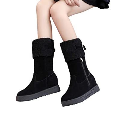16786bbeaaa3 Memela Clearance Sale!!Women s Winter Warm Zipper Snow Boots Toe Wedges  Shoes Keep Warm