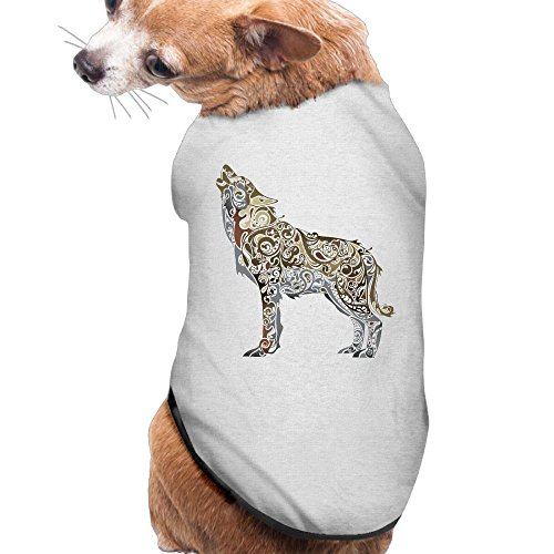 Wolf Of Wall Street Costume Designer (WOLF Plain WarmPet Puppy T Shirt Dress Plain Sleeveless Costumes Best Holiday Gift L Ash)