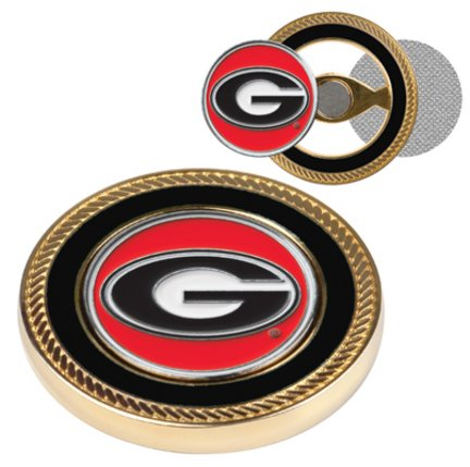 Georgia Bulldogs Challenge Coin with Ball Markers (Set of (Georgia Coin Set)