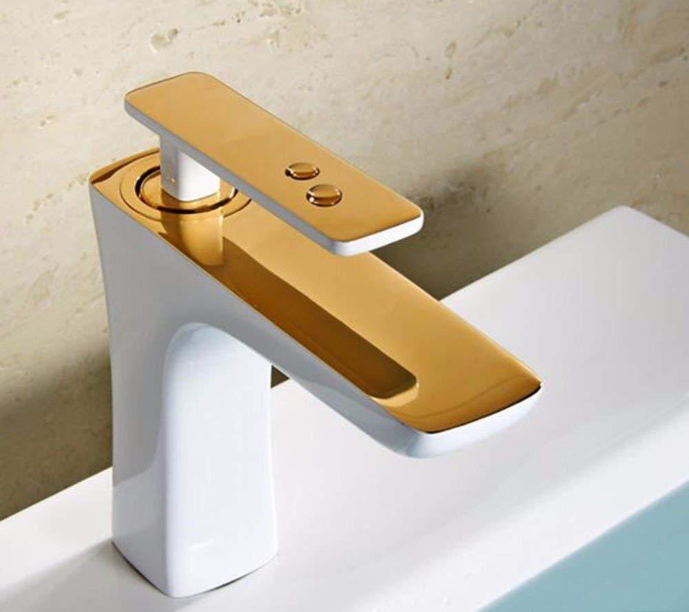 JingJingnet 流域ミキサータップ浴室のシンクの蛇口ホワイトフル銅蛇口 (Color : E) B07S3S6PP1 E
