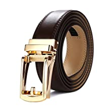 Men's Leather Belt with New Style Open Buckle