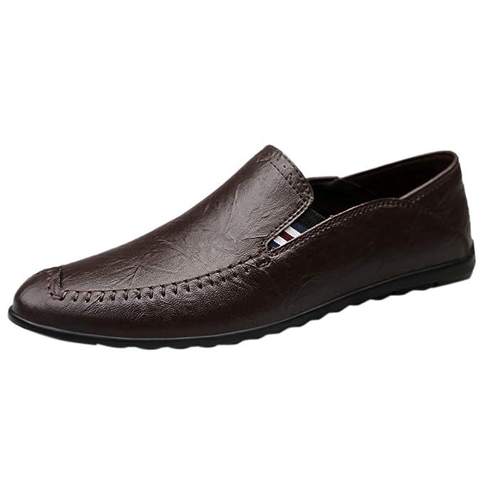 FRAUIT Scarpe da Barca Mocassini Uomo Eleganti Pelle Loafers