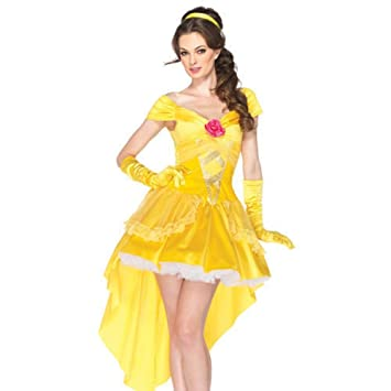 Sexy Ladies Princess Belle womens fancy dress Fairytale Adult Costume Outfit  (Medium 8 - 10)  Amazon.co.uk  Toys   Games 12095df88