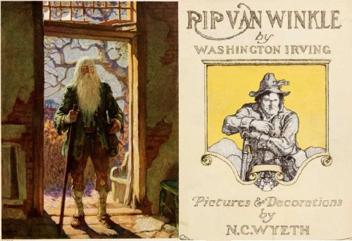 Rip Van Winkle (annotated) Picture and Decorations by N. C. Wyeth