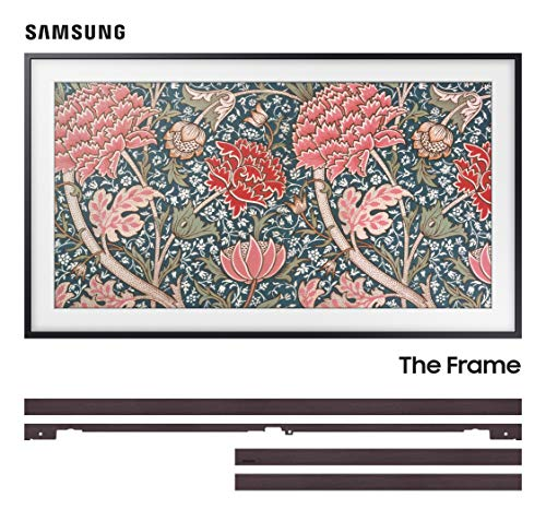🥇 Samsung QN43LS03RA 43″ The Frame 4K Ultra High Definition Smart QLED TV with a Samsung VG-SCFN43DP 43″ Customizable Brown Bezel for The Frame TV