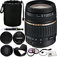 Tamron Zoom Super Wide Angle 18-200mm f/3.5-6.3 XR Di-II LD Aspherical (IF) Macro Lens for Canon Digital EOS Bundle Includes Manufacturer Accessories + 3PC Filter Kit + Lens Cap + Lens Pen + Cap Keeper + Lens Pouch + Microfiber Cleaning Cloth
