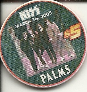 ($5 palms kiss march 2003 rare las vegas casino chip)