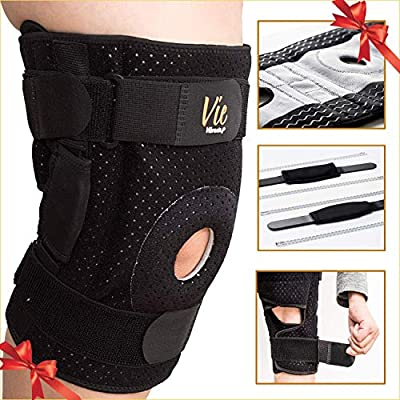 Hinged Knee Brace Plus Size – Newly Engineered Knee Braces with Enhancement on Flexibility, Extra Supportive, Non-Slip and Non Bulky - Vie Vibrante