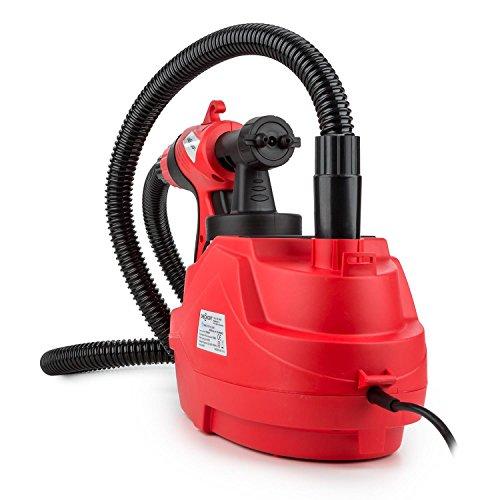 oneConcept Ultracolor VX600 elektrisches Farbsprühsystem Farbspritzpistole Sprühgerät mit 3 Sprüheinstellungen & Dosierung für Oberflächen Innen und Außen (700ml Tank, 600W, inkl 2 Düsen) Rot