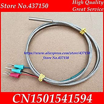 Fevas PT100 Temperature Sensor PT1000 Platinum Resistance Three Wire Teflon thermocouple Temperature line 3 Cable 430 Probe - (Color: pt100): Amazon.com: ...