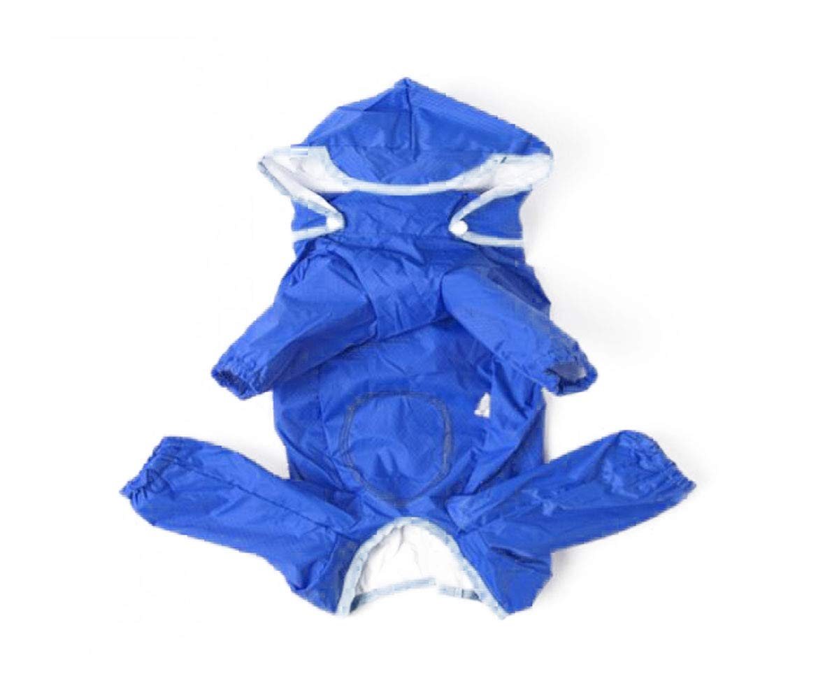 bluee 8  bluee 8  Jielongtongxun Dog Raincoat, pet Long Sleeve Four-Legged Waterproof Suit Youth (color   bluee, Size   8 )