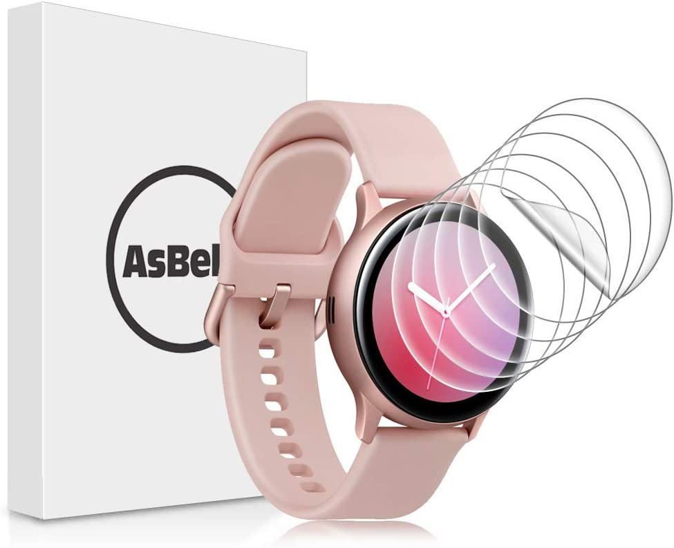 AsBellt Protector de Pantalla para Samsung WatchActive 2 40mm (Ultra Transparente)(Sin Burbujas) TPU Suave, Protector Pantalla para Galaxy Watch Active2 40mm
