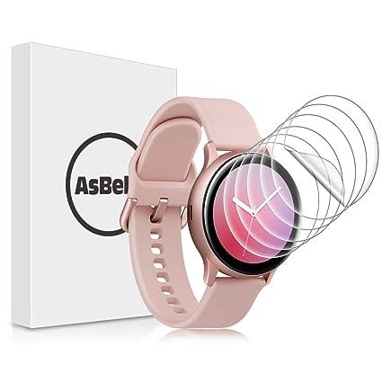 AsBellt Protector de Pantalla para Samsung Watch Active 2 40mm (Ultra Transparente)(Sin Burbujas) TPU Suave, Protector Pantalla para Galaxy Watch ...