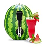 KeggerMelon Watermelon Keg Tapping Kit Spigot Instant Keg Silver Black with Bonus Drilling Tool Made by Mello