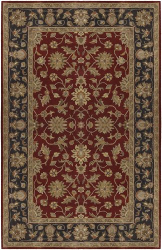 Surya Crowne CRN-6013 Classic Hand Tufted 100% Wool Maroon 2'6'' x 8' Traditional Runner