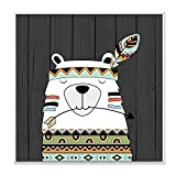 Stupell Home Décor Tribal Boho Bear Wall Plaque Art, 12 x 0.5 x 12, Proudly Made in USA
