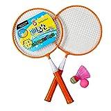 Kid's Badminton Sets Children Indoor/Outdoor Sports Toy Ball Game-Orange/White