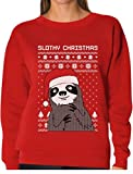 Tstars TeeStars - Slothy Christmas Ugly Christmas Sweater Sloth Women Sweatshirt