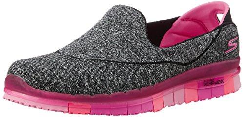 Go Flex Donna Nero Sneaker Bkhp Skechers dfSq1PwdR