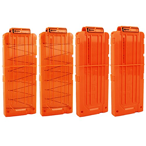 OIMIO Bullet Clips, 4 Pack 12 Darts Quick Reload Clips Magazine Clips for Nerf n-Strike Elite Blaster (Nerf Magazine Clip)
