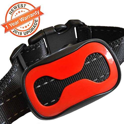 TrainerPro Anti Bark Dog Collar – Humane No Shock Collar for Long and Short-Haired Dogs 6-120 lbs – 2018 Upgrade, 7 Sensitivity Levels, 4 Colorful Collar Covers – Sound and Vibration Bark Control For Sale