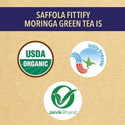Saffola FITTIFY Gourmet Superfood Moringa Green Tea, Jasmine, 15 Sachets, 37.5g