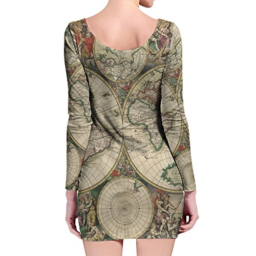 Queen of Cases - Robe - Motifs - Manches Longues - Femme vert Green taille unique