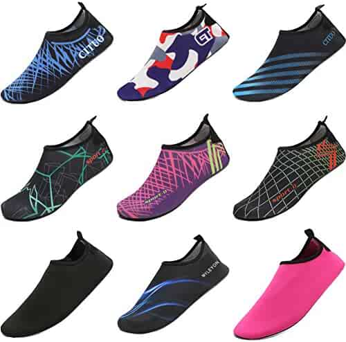 CIOR Men Women and Kids Quick-Dry Water Shoes Lightweight Aqua Socks For Beach Pool Surf Yoga Exercise
