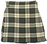 American Highlander Men's O'Brien Tartan Kilt 50 Waist White/Green/Black