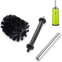 Wesco Reserveborstel voor toiletten, 3-delig), zwarte toiletborstels en houder, plastic, 11 x 26,5 x 11 cm.